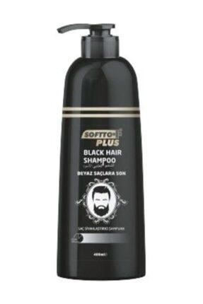 Softto Plus Black Hair Saç Siyahlaştırıcı Şampuan Pompalı 350 Ml 0