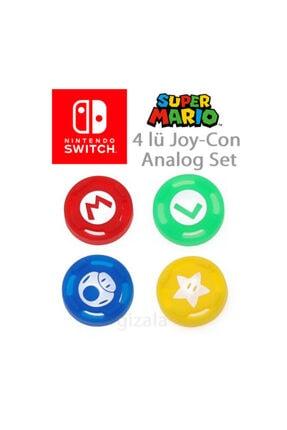 Nintendo Switch Super Mario Joycon Analog Başlıkları Lisanslı 1