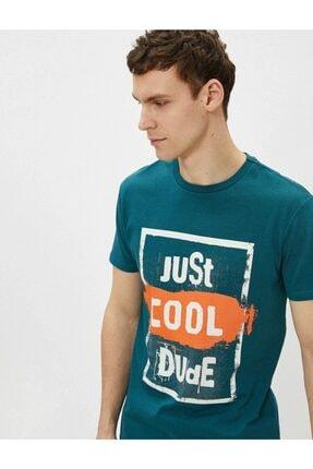 Koton Erkek T-shirt Yeşil 1