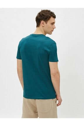 Koton Erkek T-shirt Yeşil 3