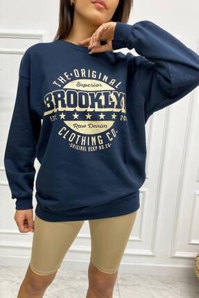 Eka 0939-0231 Broklyn Baskılı Şardonlu Sweatshirt 4