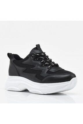 Hotiç Siyah Yaya Kadın Spor Ayakkabı 1