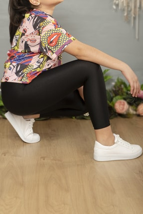 hoQuspoQus Kız Çocuk Disco Tayt Siyah Renk 2