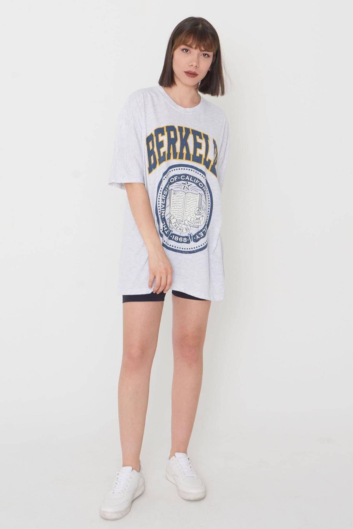 Addax Baskılı Oversize T-shirt P9551 - C11 1