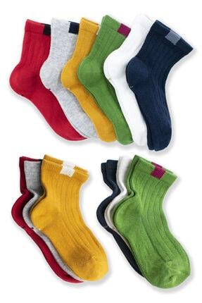 Belyy Socks Unısex Çocuk Renkli Çorap 6'lı 2