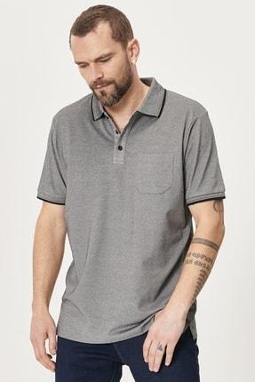 Picture of 2 Al Sepette Ek %20 İndirim Siyah Polo Yaka Cepli Regular Fit Bol Kesim Düz Tişört