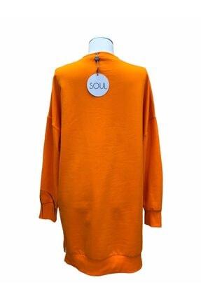 SOUL BY LOREEN FASHİON Kadın Düz Renk Rahat Kalıp Sweatshirt 3