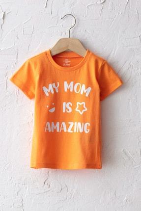 LC Waikiki Erkek Bebek Turuncu Fkl T-Shirt 0