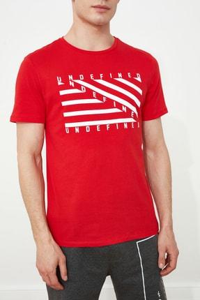 TRENDYOL MAN Kırmızı Erkek Baskılı Slim Fit T-Shirt TMNSS20TS0079 2