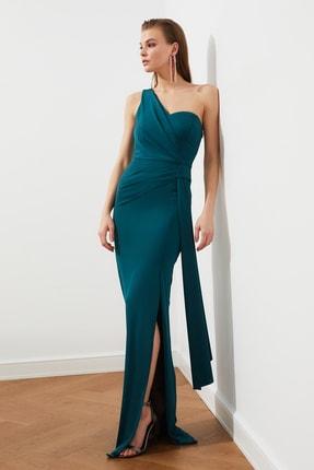 TRENDYOLMİLLA Zümrüt Yeşili Bel Detaylı  Abiye & Mezuniyet Elbisesi TPRSS20AE0117 3