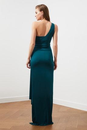 TRENDYOLMİLLA Zümrüt Yeşili Bel Detaylı  Abiye & Mezuniyet Elbisesi TPRSS20AE0117 4