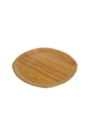 Bambum Kahverengi Penne Kare Tabak 28 cm 0