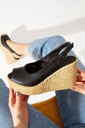 derithy Lewis Dolgu Topuklu Ayakkabı-siyah-lzt0535 3