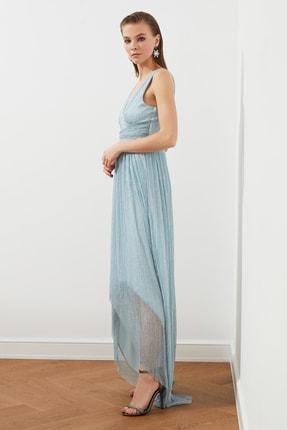 TRENDYOLMİLLA Açık Mavi Bel Detaylı  Abiye & Mezuniyet Elbisesi TPRSS20AE0081 1