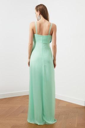 TRENDYOLMİLLA Mint Renk Bloklu Şifon Abiye & Mezuniyet Elbisesi TPRSS20AE0083 4