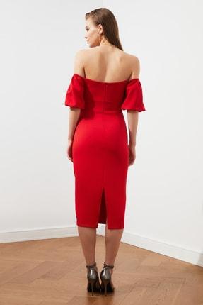 TRENDYOLMİLLA Kırmızı Puf Kollu Elbise TPRSS20EL1436 3