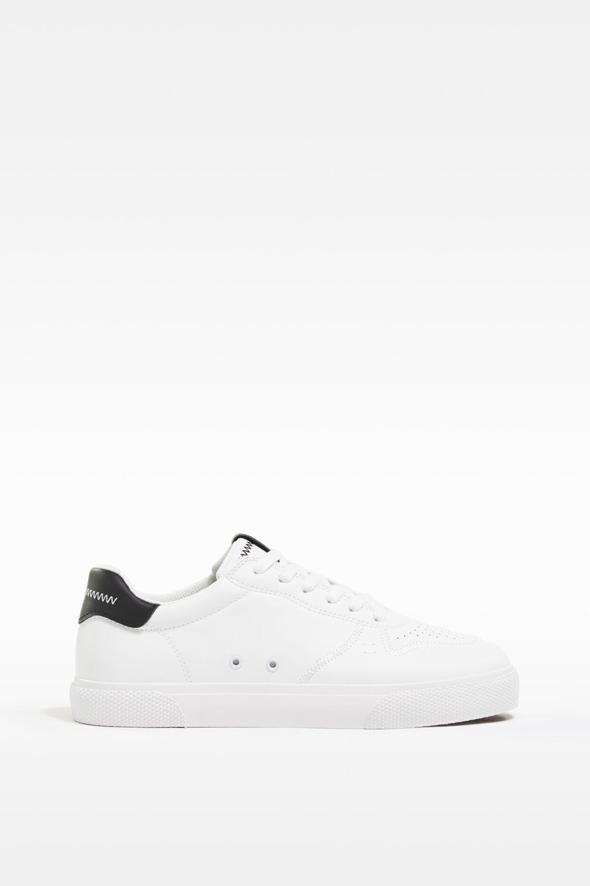 Bershka Erkek Beyaz Kontrast Spor Ayakkabı 12400760 0
