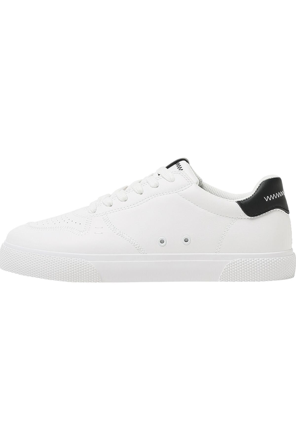 Bershka Erkek Beyaz Kontrast Spor Ayakkabı 12400760 2