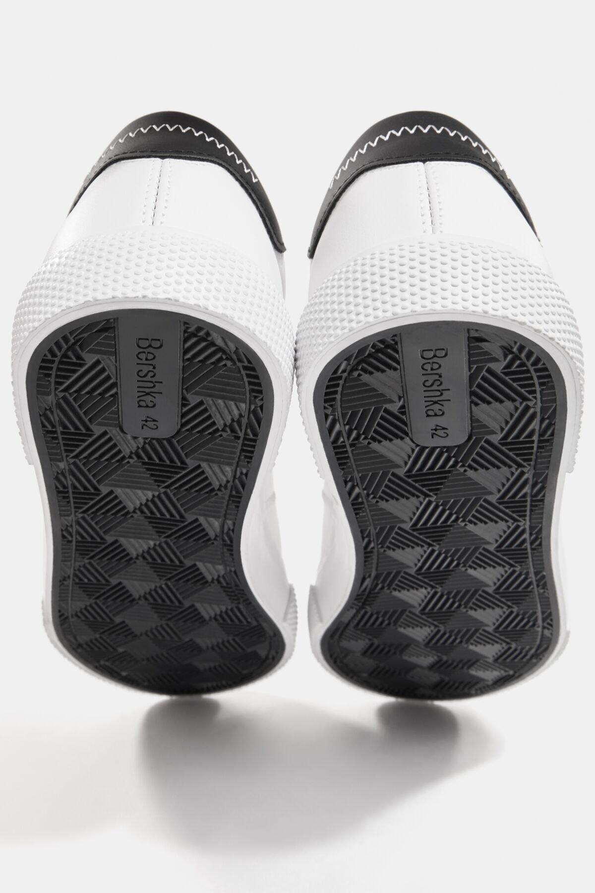 Bershka Erkek Beyaz Kontrast Spor Ayakkabı 12400760 3