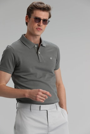 Lufian Laon Spor Polo T- Shirt Haki 0