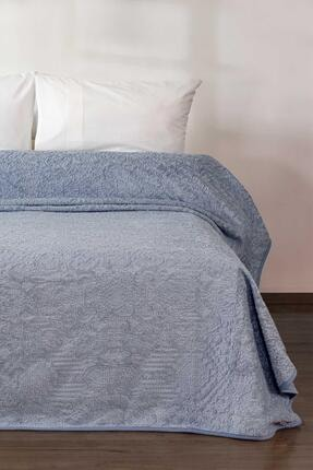 Elart Mavi Embos Battaniye Etnik Desen Çift Kişilik Battaniye 220x240cm 1
