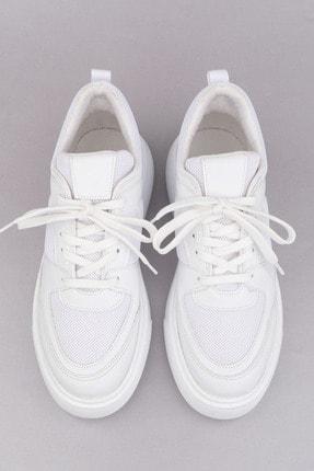 Marjin Kadın Beyaz Sneaker Ayakkabı Levido 2