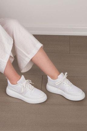 Marjin Kadın Beyaz Sneaker Ayakkabı Levido 3