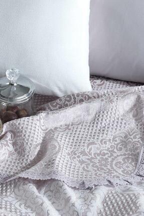 Elart Pamuklu Yatak Örtüsü Seti Çift Kişilik 4 Parça Laura Gümüş 3