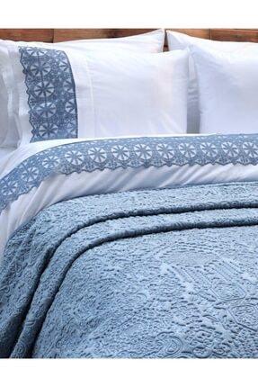 Elart Claudıa Mavi Nevresimli Battaniye Seti 0