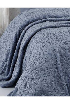 Elart Embos Battaniye Çift Kişilik Mavi 220x240cm 1