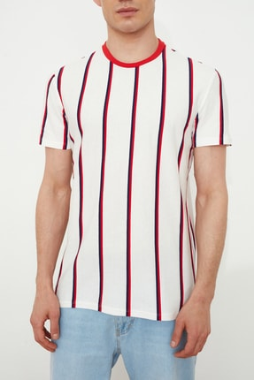 TRENDYOL MAN Beyaz Erkek Regular Fit  T-Shirt TMNSS21TS2021 2