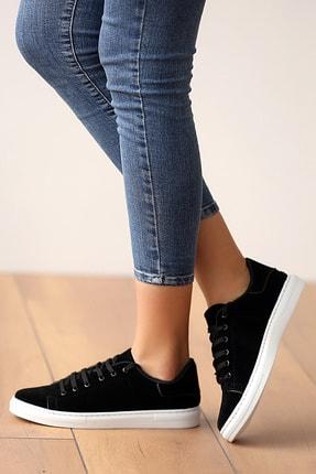 Pembe Potin Kadın Siyahsüet Ayakkabı 0