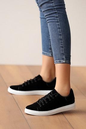 Pembe Potin Kadın Siyahsüet Ayakkabı 1