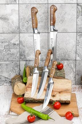 Gezgin Bıçak Premium Paslanmaz Çelik 5 li Kasap Ve Mutfak Bıçağı Seti 1