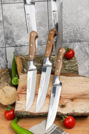Gezgin Bıçak Premium Paslanmaz Çelik 5 li Kasap Ve Mutfak Bıçağı Seti 2