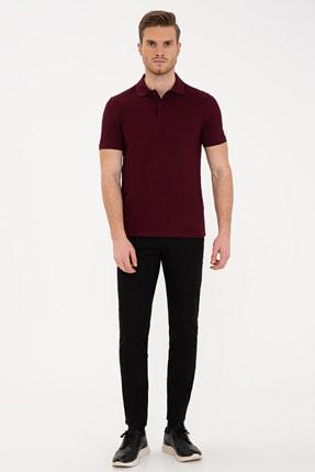 Pierre Cardin Bordo Slim Fit Basic Polo Yaka T-Shirt 3