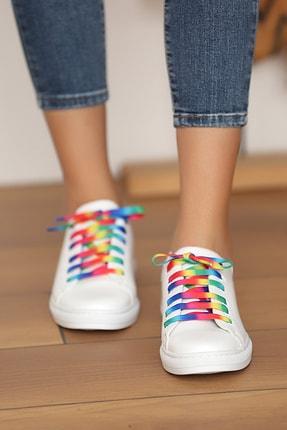 Pembe Potin Kadın Beyaz Multi Ayakkabı 2