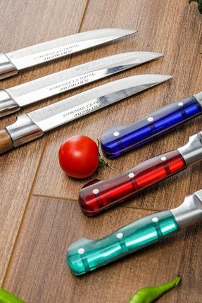 Gezgin Bıçak Premium Paslanmaz Çelik 6'lı Mutfak Bıçak Seti 4