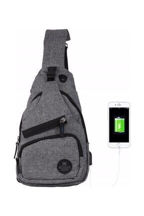 My Valice Smart Bag Usb'li Çapraz Göğüs Çantası 1503 Gri 0