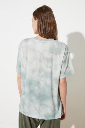TRENDYOLMİLLA Mint Batik Boyfriend Örme T-Shirt TWOSS21TS2337 4