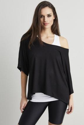 Cool & Sexy Kadın Siyah-Beyaz İkili Salaş T-shirt BK1101 2