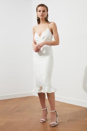 TRENDYOLMİLLA Ekru Sırt Detaylı Elbise TPRSS19BB0043 0