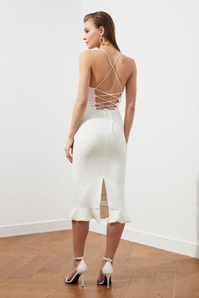 TRENDYOLMİLLA Ekru Sırt Detaylı Elbise TPRSS19BB0043 4
