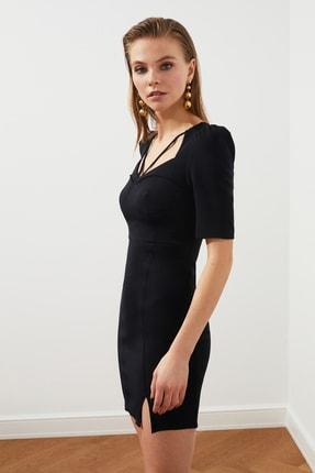TRENDYOLMİLLA Siyah Kulplu  Elbise TPRSS20EL3190 1