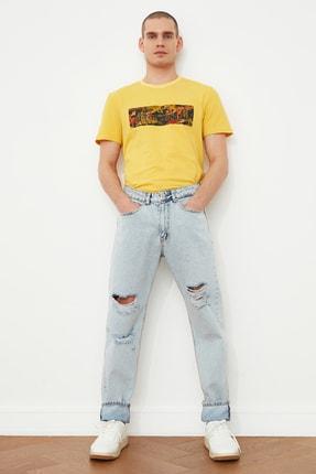 Picture of Açık Mavi Erkek Destroylu Essential Fit Jeans TMNSS21JE0551