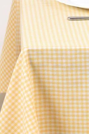 ZEYNEP ÇEYİZ Sarı Küçük Kare Desen Pötikareli Masa Örtüsü, Sofra Bezi, Piknik Örtüsü 170x220 0