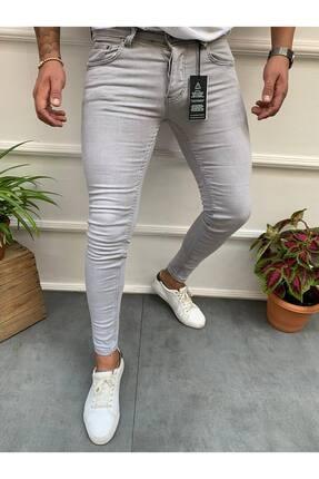 Cocers Erkek Gri Slim Fit Jean Pantolon 0