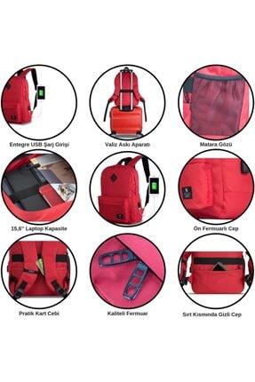 My Valice Smart Bag Specta Usb Şarj Girişli Akıllı Sırt Çantası Siyah 4