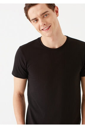 Mavi Siyah Basic Tişört 0