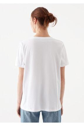 Mavi Kadın V Yaka Basic Beyaz T-Shirt 3